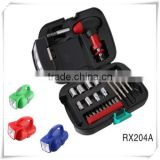 24pcs Hot products outdoor Hardware Tool Kit led flashlight mutifuctional tool set HW04005