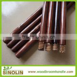 SINOLIN colorful varnished wooden mop handle with screw/household Dyed color painted wooden broom stick