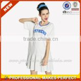 Casual loose sports blank t-shirt dress for girls (YCT-C0225)