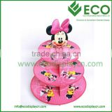 Attractive Cardboard Hello Kitty Cupcake Stand, Paperboard Carton Mickey Mouse Cake Stands