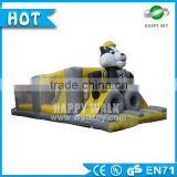 2016 Hot sale! adult inflatable obstacle course, outdoor obstacle course equipment, boot camp inflatable obstacle course