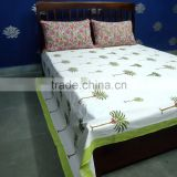 Tree of Life Bed Sheet cotton Hand Block Printed in Jaipur SKU 7038