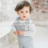 davebella 2013 autumn new arrival fashiom 100% cotton baby boy rompers baby overall DB264                                                                         Quality Choice