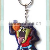 2D basketball soft pvc key chain
