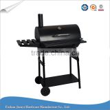 Outdoor Charcoal Barrel Shape Barbecue Grill with wheel