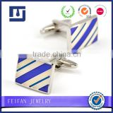 Men's Fashion Cufflinks Wholesale Custom Cufflinks Blue Flower Texture Cufflinks                                                                         Quality Choice