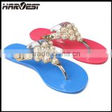 wholesale custom women summer slipper with bead designs