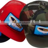 Trucker Mesh Caps Adjustable Plastic Snap Back Closure , All 6 Panels Mesh Baseball Caps , Custom Full Mesh Baseball Cap Bulk