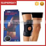 A-308 Open Knee Adjustable Climbing Knee Support Copper Compression Knee Sleeve and Patellar Neoprene Knee Brace