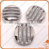 BJ4557 pave zirconia round connector,micro pave jewelry,brass with 62pcs cubic zirconia beads jewellery