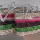 Colorful Seagrass Shopping Basket from Viet Nam