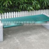 Powder coated metal outdoor bench backless concrete bench                                                                         Quality Choice