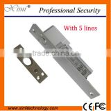 Good quality low tempreture electric bolt lock 2 lines 4 lines 5 lines with timer for glass door bolt lock