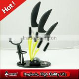 Black TPR handle 5 piece ceramic knife set