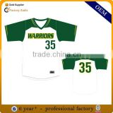 Custom sublimated printing baseball jersey, wholesale cheap blank plain baseball jerseys