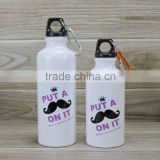 aluminum water bottle 750ml with color painted/professional water bottle manufacturer/sport water bottle