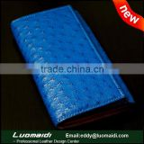 New arrival ostrich leather women purse , exotic leather lady clutch bag ,genuine ticket travel lady wallet