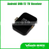 DVB-T2 android TV tuner Vmade DVB T2 Pad TV receiver mini USB dvb-t android phone dvb-t2 tv stick
