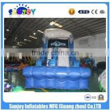 2016 new product nice embroidery design inflatable games inflatable water slide for children