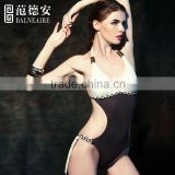 Balneaire sexy girl photo with Neck Cut-out Sexy One Piece Swimsuit