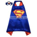 Wholesale superhero capes/custom adult superman capes and masks/party costumes masks
