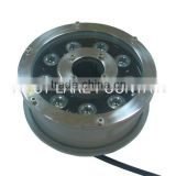Stainless Steel Shell 1W*9 LED Ring Undergound Light used for Fountains