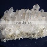 natural rough cluster quartz