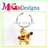 Polyresin Christmas decor wine charms