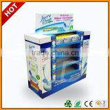 retail cardboard pallet disply for bathroom odour eliminator ,retail cardboard pallet display pdq for shopping bags