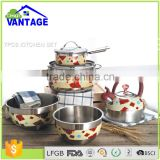 Hot sale decorative portable milano 7pcs outdoor camping picnic kitchen cookware set with lid