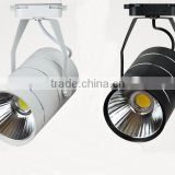 White / Black Aluminium Housing Led Track Light 30w 50w COB Led Track Light Dimmable For Clothing Store Lighting