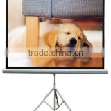 Matt White Projector Screen with Portable Tripod 3D HD TV Projection for Home Cinema System