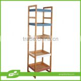 free standing corner shelving unit/bamboo bathroom free standing shelves