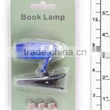 hot selling mini plastic book lamp 3 button cell with clip holder