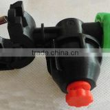 chemical clamp spray nozzle with shut off valve