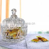 wholesale empty candy buffet glass jars; cookie sugar bowl; small clear glass candy jars with glass lids