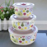 "ideal promotional gift printing,4""5""6""Ceramic Mixing Bowl,3pcs Melamine Container Set"