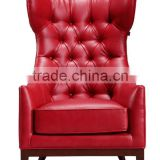 leather hotel sofa chair with foodrest stool