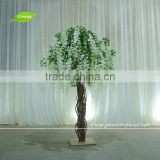 GNW 5ft high wisteria flower artificial wedding table tree centerpieces white tree wedding decor