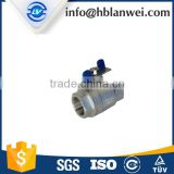 high quality cheap price two piece stainless steel internal thread ball valve with BSP for water