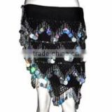 Belly Dance Hip Scarf with beads coins