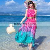 Beautiful summer Bohemia long dress for women Ladies casual beach dress spring summer 2016