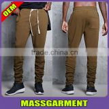 Custom design man cotton tapered sweat pants slim fit jogger pants and trousers with side pockets