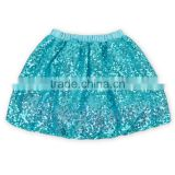Mint Color Sequined Girls Ball Gown Dancing Skirt Fashional Wholesale Price