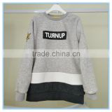 New Design Polyester/Cotton Kids Hoodies without Hood Thick Fleece Pullover Hoodie Sweatshirt
