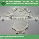 High quality eco-friendly organic bamboo baby onesie sleepsuit made in china