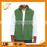 Newest Basic Fit fleece vest secure-zip 100% polyester Micro Fleece popular hottest christmas SPORT VEST for men