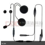 Helmet Walkie Talkie Headset 2 Pin PTT Motorcycle Earphone for Kenwood Radio