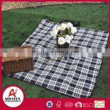 Noraml pattern picnic blanket for stock, Wholesale outdoor waterproof camping mat, 100% acrylic picnic blanket