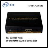 2 port HDMI Audio Converter/Extractor Audio EDID Setting&2HDMI output